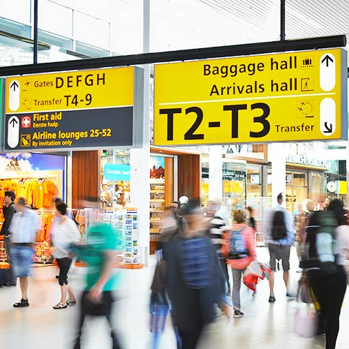 Digital Signage on Airports